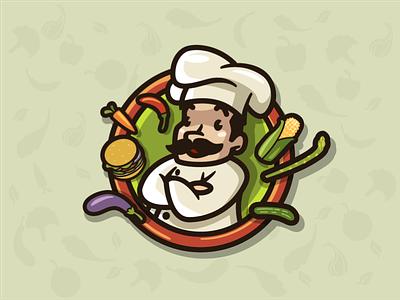 Vegiebar Alternative Logo mascot chef mascot mascot logo character logo retro chef retro character character simple bold
