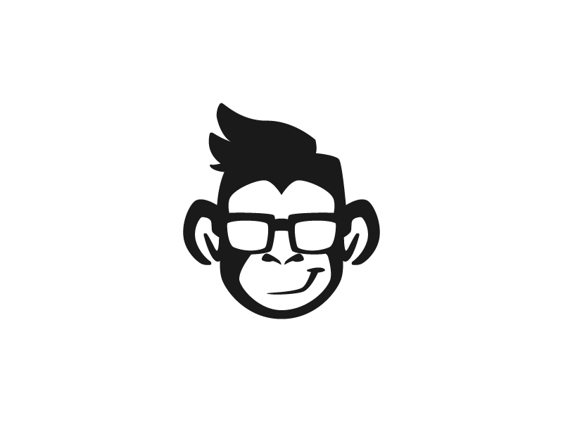 Chimp Logo for Sale (SOLD exclusively) chimp monkey chimpanzee hipster hipster monkey