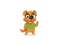 Geek Dog Mascot