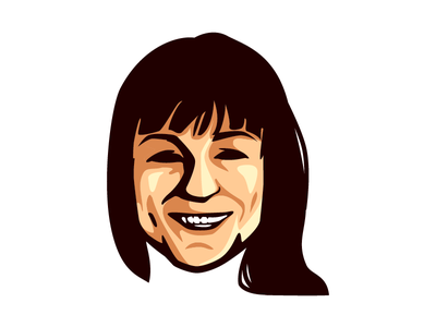 Elizabeth Stark character design illustration logo mascot simple minimalistic elizabeth stark