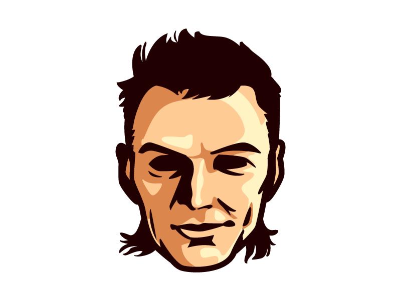 Olaf Carlson-Wee modern minimalistic simple design head avatar character design mascot illustration