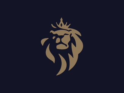 crowned lion logo by suhandi dribbble dribbble