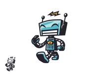 Happy Vintage Toy Robot Logo