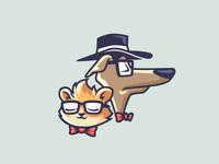 Hipster Pet Logo