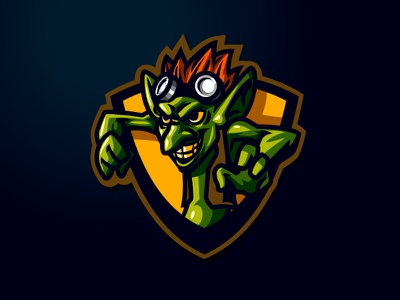 The Goblin Esports Logo moba character mascot cartoon sport logo sport esport esports gamers game goblin