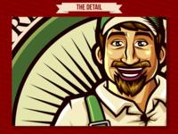 The Vegetable Man Produce logo design