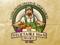 The Vegetable Man Vintage Logo