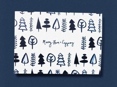 Merry Rum + Eggnog Christmas Card