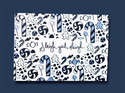 Sleigh Girl Sleigh Christmas Card