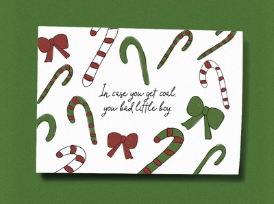 In case you get coal, you bad little boy Christmas Card