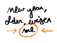 New year older wiser me