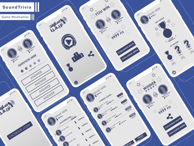 SoundTrivia Game Wireframes concept wireframes wireframe social game game application ux mobile design app