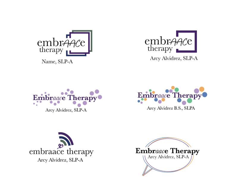 Small Business Logo Designs services medical therapy purple vector illustrator identity brand flat branding logo design