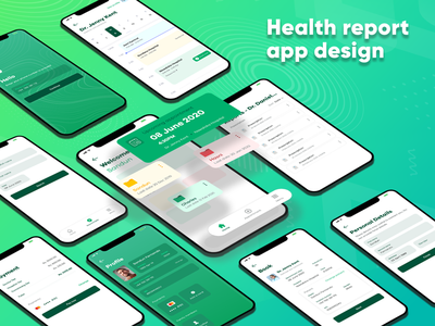 Health app design mobile app beautiful green appointment doctor health medical ux ui mobile app clean design