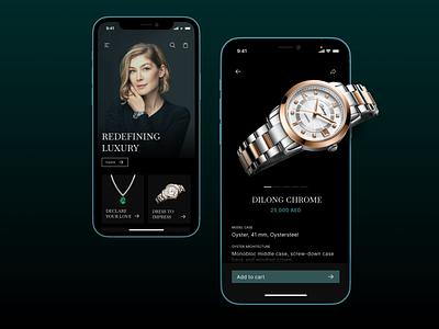 Luxury Shopping App app mobile app beautiful ui ux clean design mobile
