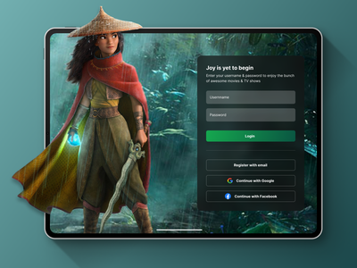Movie Streaming illustration app mobile app beautiful ui ux clean design graphic design