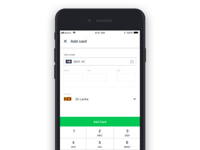 Card Payment Screen