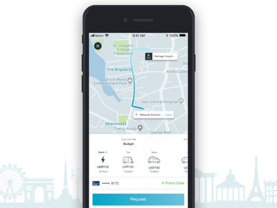 Travel App ux ui concept design mobile app clean booking promotion budget pickme careem lyft grab ola uber design uber cab taxi app taxi travel