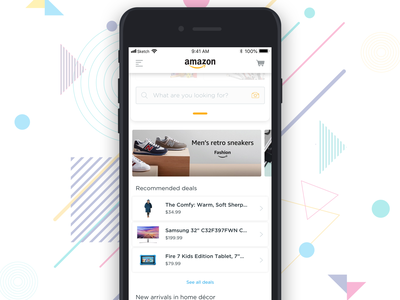 Amazon App E-commerce shopify ebay app uxresearch search simple mobile app typography cart shopping app shopping mobile clean ux ui design concept amazon ecommerce app ecommerce