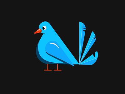 Little Bird digital vector art vector macos icon mac icon logo ipad ios icon ios gallery illustration icon freehand draw dotted creative cool bird art appicon