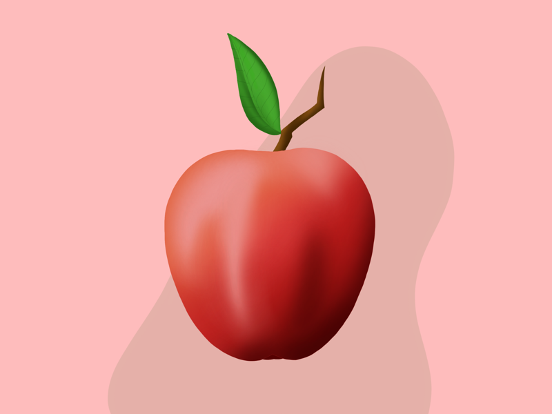 Apple vector drawing cartoon fruit character wallpaper gradient design creative graphic apple beautiful freehandart illustration digitalart art digital