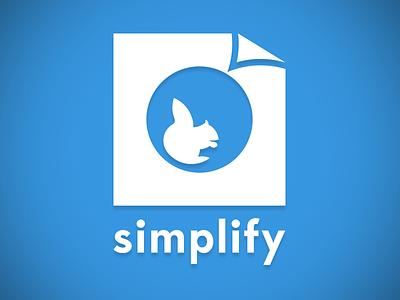 Simplify Logo Blue simplify logo squirrel blue circles golden ratio