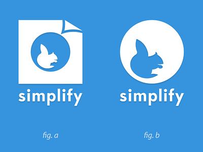 Simplify Logo - A Or B help choice logo blue