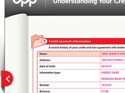Interactive Credit Report - Continues wip report interactive