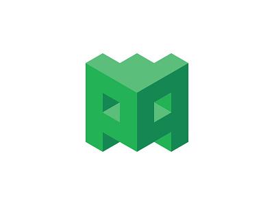 Postmodem Logo postmodem logo blog isometric green