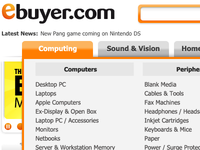 Beginning of the mockup for the new Ebuyer Nav bar