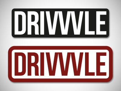 Drivvvle continues drivvvle logo stamp branding