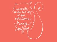 Curiosity typography illustration