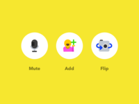 Video Conference Illustrated Icons