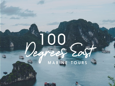 100 Degrees East typography minimal logo design branding brand identity