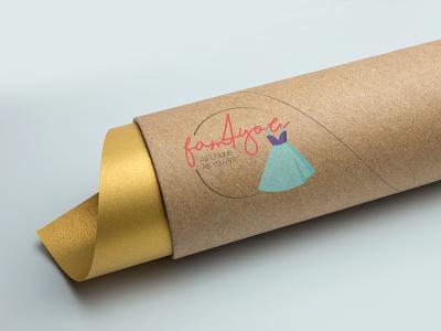 fam4you Cardboard Tube Packaging online store logo design branding package design