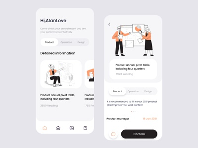 Product report page dribbble invitation vector design app ux blog design ui colorful 视觉艺术 typography