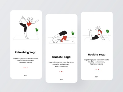 Yoga health opening page branding icon dribbble invite app ux design ui colorful 视觉艺术 typography