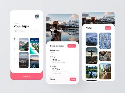 Travel specification app flat minimal icon app ux design ui colorful 视觉艺术 typography