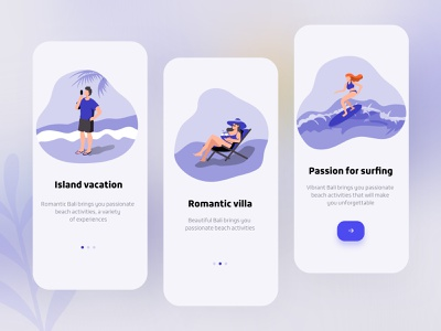 Beach holiday guide page minimal dribbble invite icon app ux design ui colorful 视觉艺术 typography