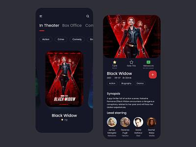 Movie rating app minimal branding illustration app design ux ui colorful 视觉艺术 typography