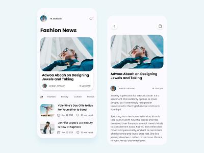 Fashion news app flat minimal dribbble invite app design ux ui colorful 视觉艺术 typography