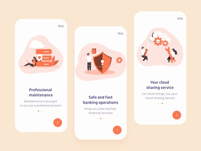 Financial Services Launch Page dribbble invitation illustration icon app ux design ui colorful 视觉艺术 typography