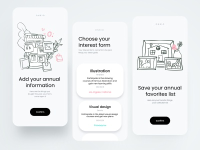 Plan form page illustration vector branding app ux design ui colorful 视觉艺术 typography