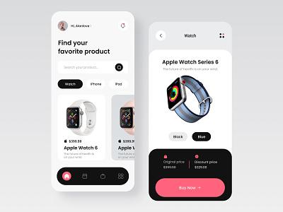 Apple Product Store App flat vector logo app ux design ui colorful 视觉艺术 typography