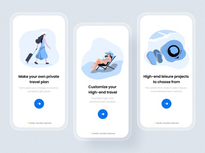 Hawkeye app guide pages branding logo ui illustration app ux design colorful 视觉艺术 typography