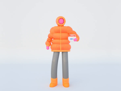 Fishbowl guy motion 3d art fishbowl fish cinema4d animation lobstertv lobster studio character design character illustration design 3d