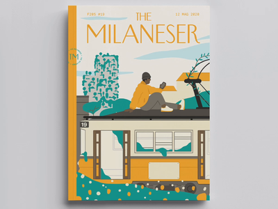 The Milaneser creativestudio lobsterstudio lobstertv italy landscape urban design magazine cover cell animation frame by frame illustration nature milan