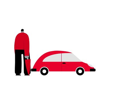 Genertel lobstertv lobsterstudio character hands road car rain fishing insurance creative after effects illustrator flat design flat vector animation illustration