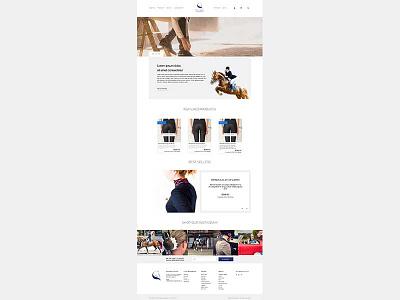 Boutique Equines eCommerce Layout