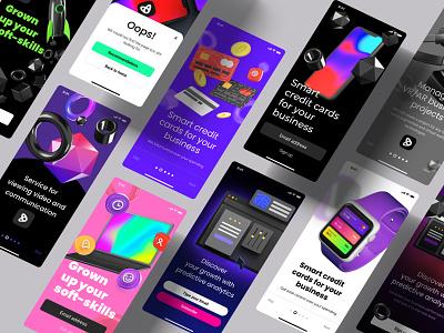 Levitate - Figma 3D scene builder & Presentation templates kit 3dkit render 4d cinema4d branding motion graphics graphic design 3d animation ui logo design desktop block 3d design 3d mockup mobile landing illustration